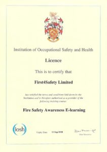 iosh fire awareness certificate